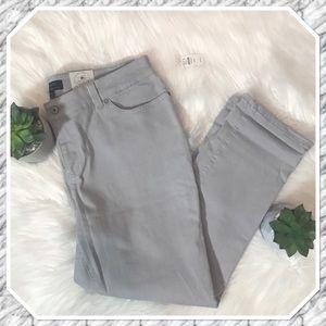 Talbots Factory Lght Grey Boyfriend 5 Pocket Jeans